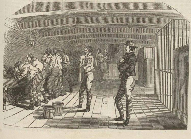 جابجایی زندانیان با کشتی در قرن نوزدهم
