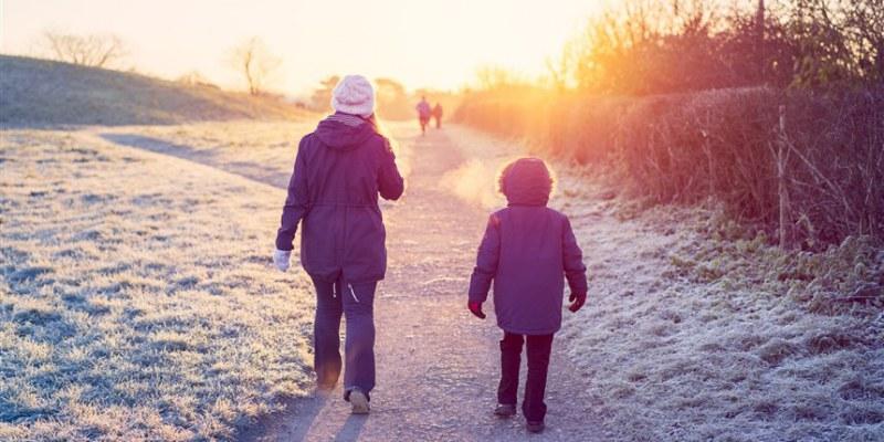 پیاده روی هوای سرد