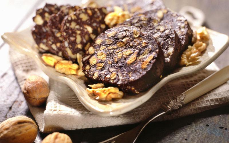 سالامی شکلات (Chocolate salami)