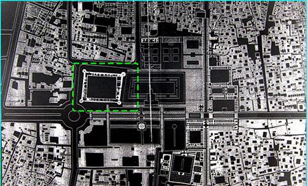 موقعیت ارگ کریمخان در نقشه میدان توپخانه